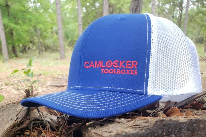 Blue on White Camlocker Cap