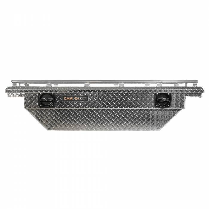 CamLocker - CamLocker S60LPBLRL 60in Crossover Tool Box With Rail For Jeep Gladiator JT Polished Aluminum